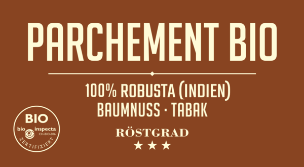 Parchement Bio - Robusta Kaffee